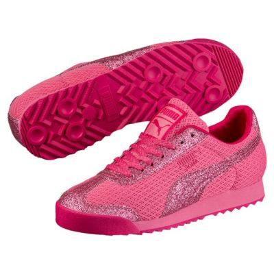 PUMA - PUMA Roma Glitz Glamm Mesh PS Çocuk Spor Ayakkabı 36461302